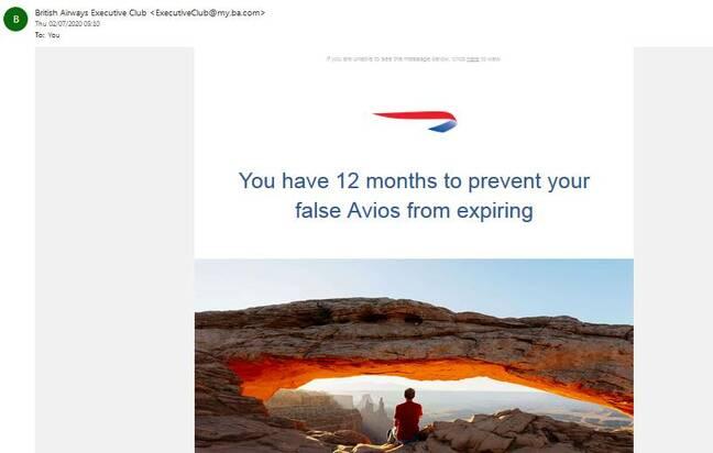false Avios screenshot