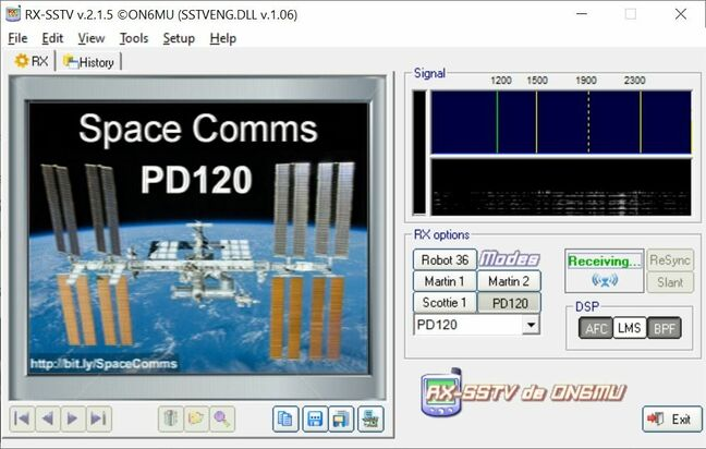 Test image from the ISS (no transmissions until late July/August)