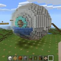 Human eye from Minecraft education edition