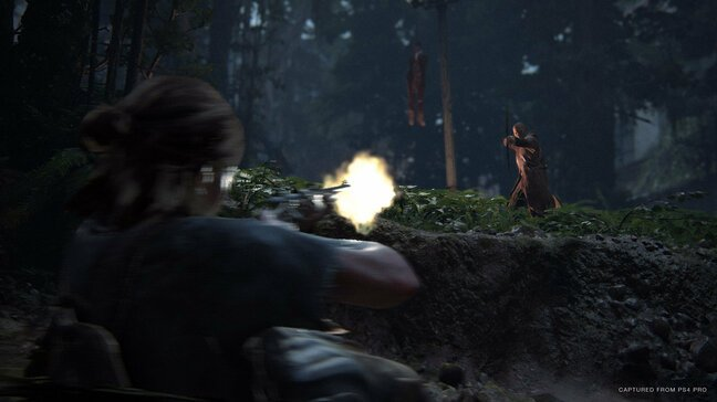 Taking a shot can wind Ellie and knock her to ground, where she can return fire