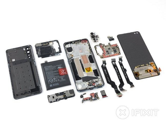 Disassembled OnePlus Nord