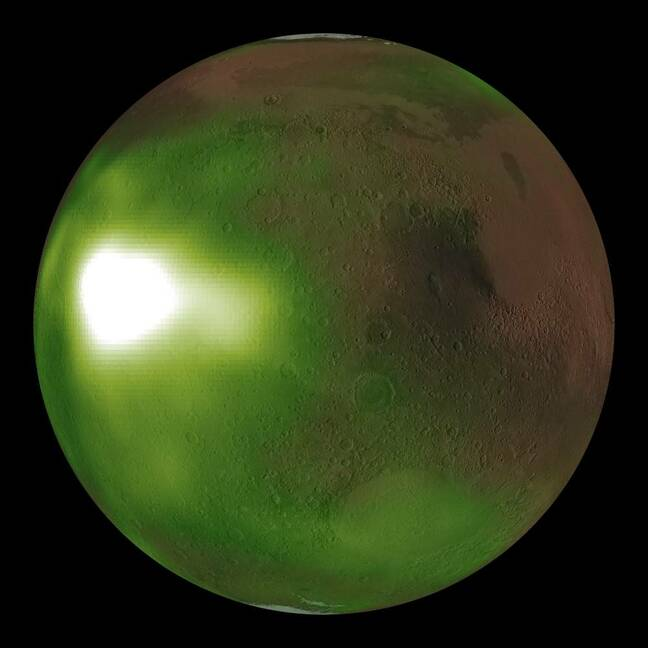 Martian nightglow. Source: NASA/MAVEN/Goddard Space Flight Center/CU/LASP