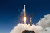 Rocket Lab Electron launch vehicle in flight