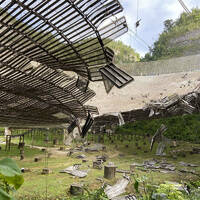 Arecibo telescope damage