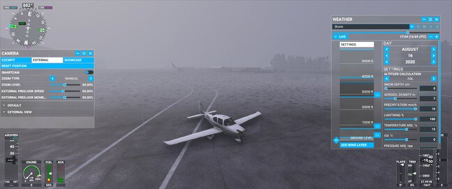 On-the-fly weather changing system in Flight Simulator 2020