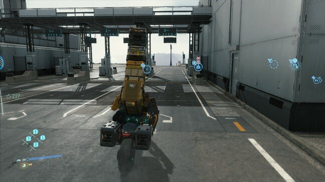 A bit top-heavy on the reverse trike here – the long-range variant won't carry cargo