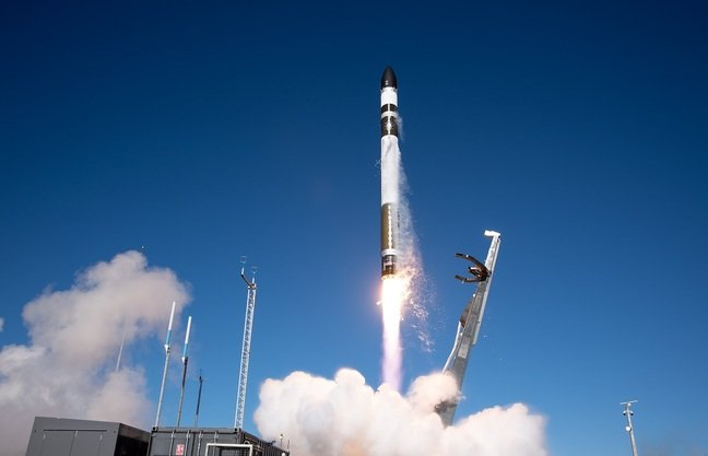 I Can't Believe It's Not Optical mission launched from Rocket Lab Launch Complex 1 on New Zealand's Māhia Peninsula, 31 August