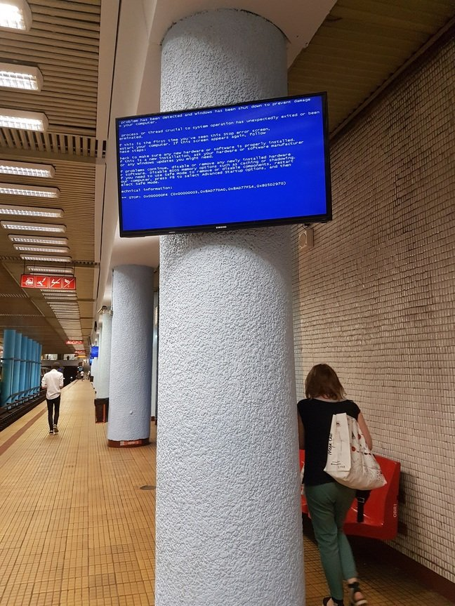 Bucharest Metro BSOD