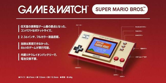 Nintendo Game & Watch Super Mario Bros. revival