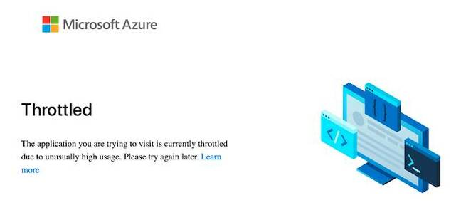 Microsoft's Fluid Framework documentation site today: not quite the scalability we were hoping for
