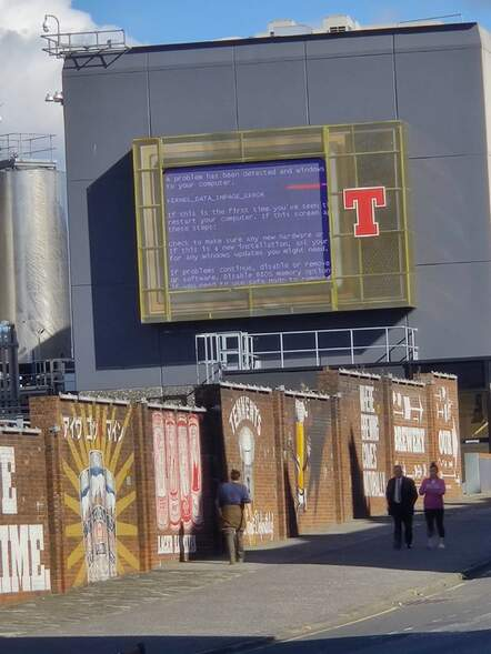 Spotted at the tennents factory in Glasgow on Sunday afternoon