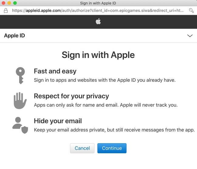"Apple touts ""Sign in with Apple"" as fast and easy, but does not mention the risk of lockout if it has a disagreement with the third-party."