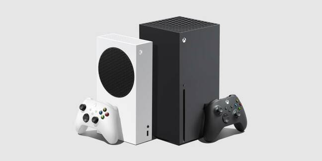 The new XBOX Series S (l) and XBOX Series X