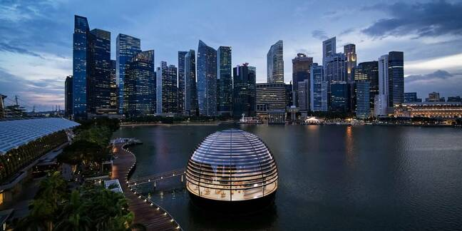 Apple's floating store in Singapore