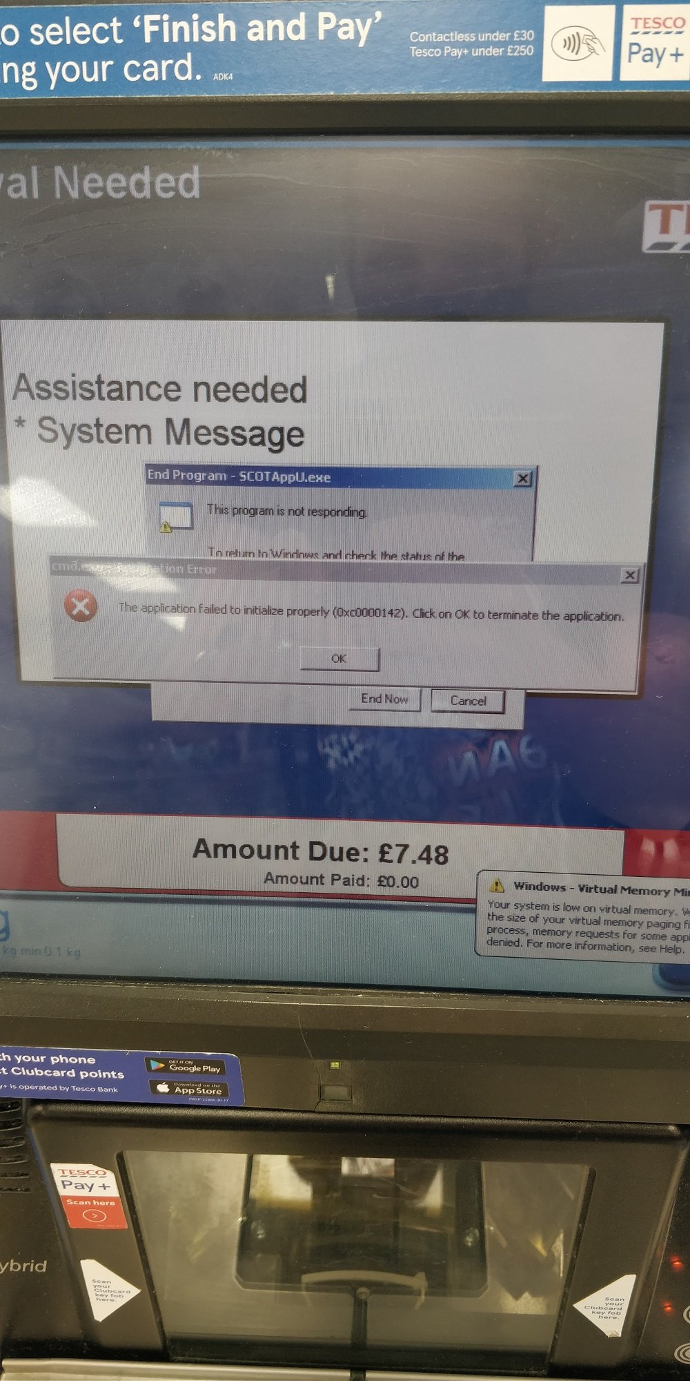 photo of Tesco self-service separates innocent <i>Reg</i> reader from beer after collapsing into heap of Windows dialog boxes image