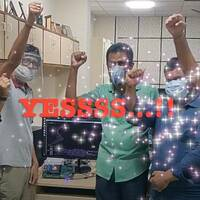 The Moushik team celebrates their new CPU Booting