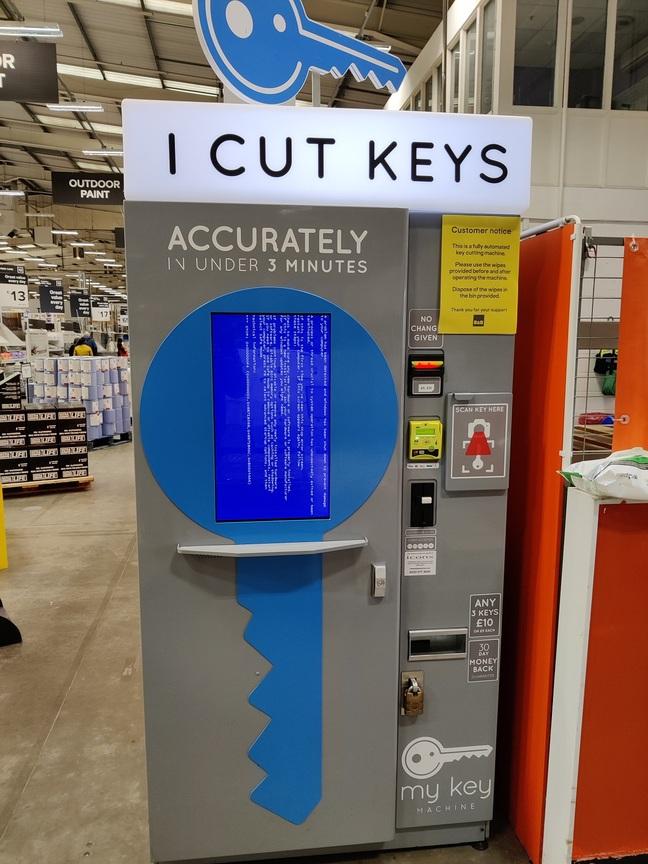 BSOD at key cutters