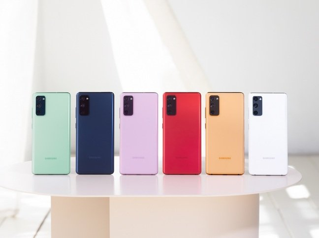 Samsung Galaxy S20 Fan Edition colour lineup