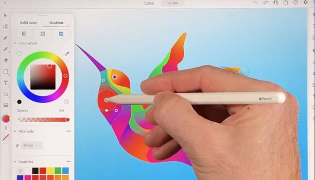 Adobe's Illustrator application is available for the first time on iPad.