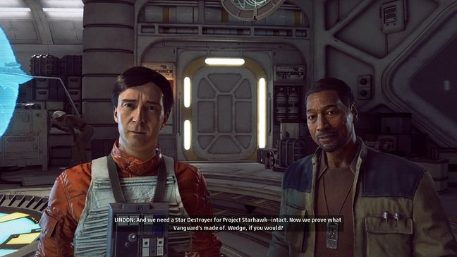 Rogue Squadron ace Wedge Antilles makes an appearance