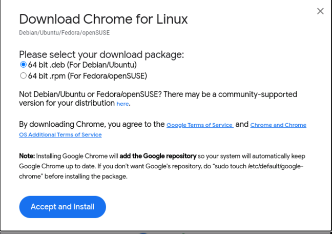 The official Google Chrome is also available as a .deb package but is not open source comes with baggage of its own.