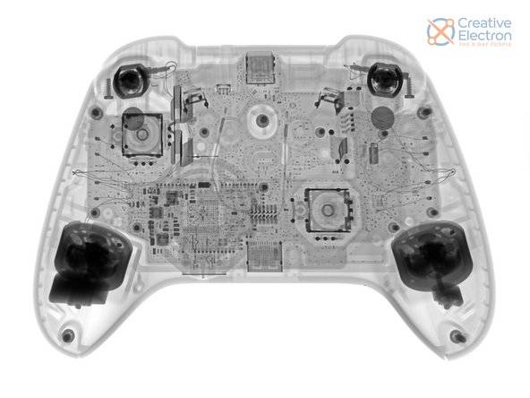 digital xray inspection firm creative electron imaged the xbox controller for the ifixit teardown https://creativeelectron.com/