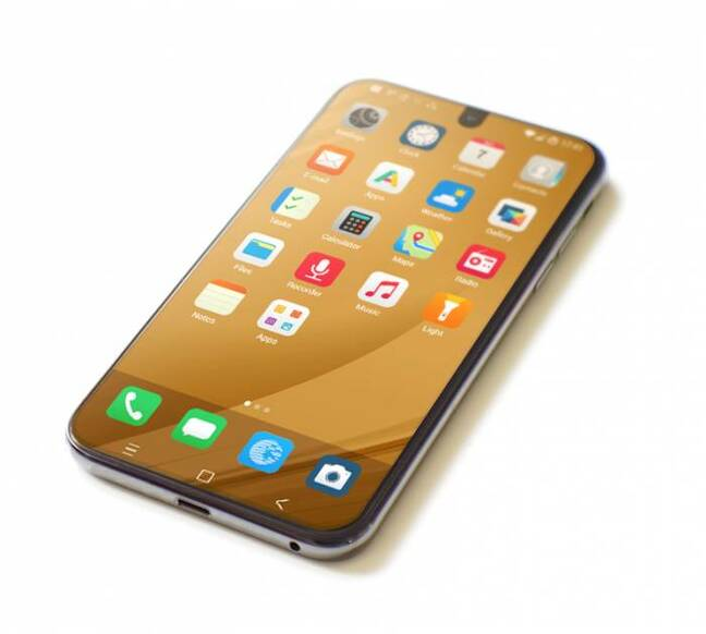 A smartphone running /e/OS