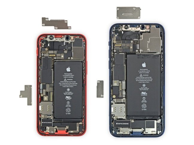 iPhone 12 Mini compared with iPhone 12