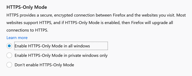 Firefox 83 promises to 'upgrade all connections to HTTPS', though in reality it will block and warn users when only an insecure connection is available