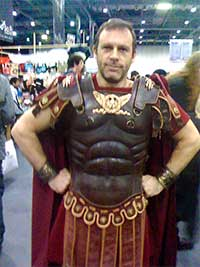 Alistair Dabbs in Roman cosplay