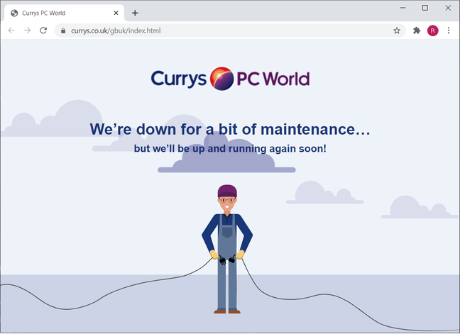 Currys PC World website down