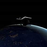 Artists impression of ClearSpace space junk grabbing satellite. Image credit: ClearSpace SA