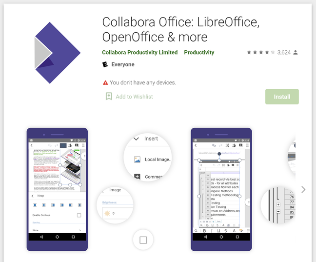 There are versions of LibreOffice for iOS and Android, co-branded Collabora, but they need work
