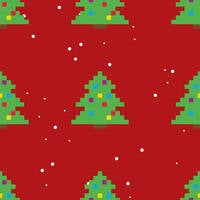 Eight bit christmas trees