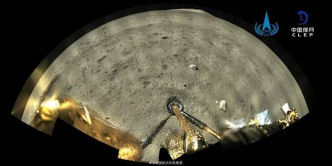 Chang'e 5 on the moon. Image: CNSA and CLEP