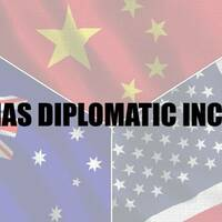 USA China Australia diplomatic incident meme