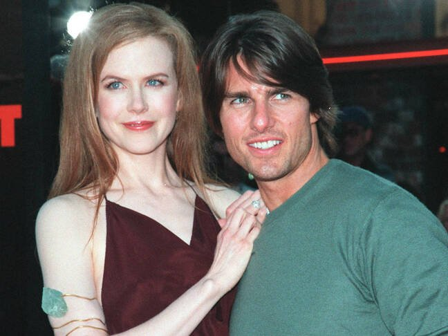 tom cruise and nicole kidman at premier of kubrick's eyes wide shut