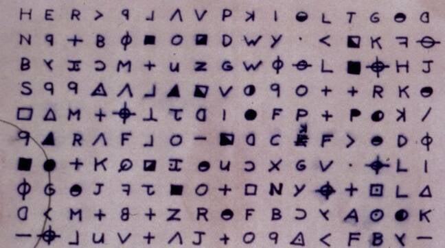 Zodiac Killer Z340 cipher image