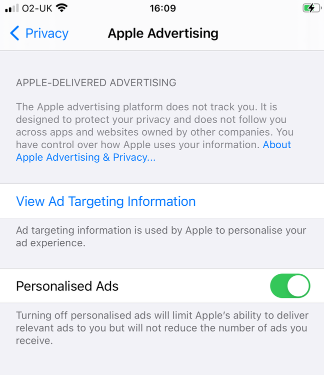Apple's advertising policy