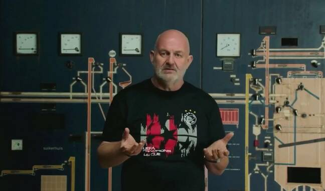Dr Werner Vogels expounding the benefits of observability at an ancient food processing factory.