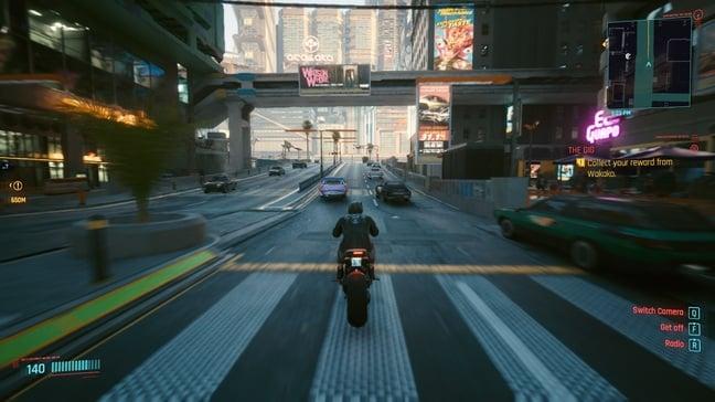 Speeding through Night City