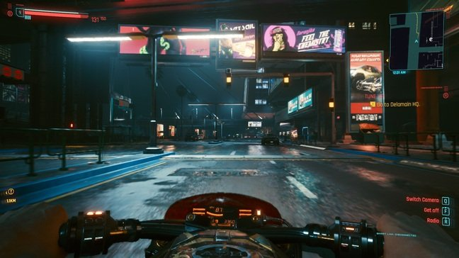 You can drive in first or third-person