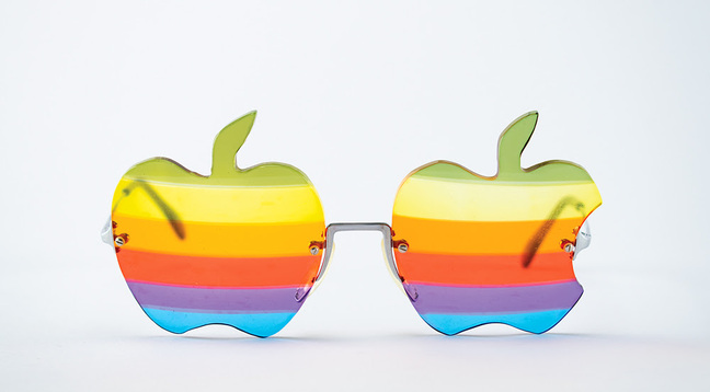 Woz's custom-made Apple shades
