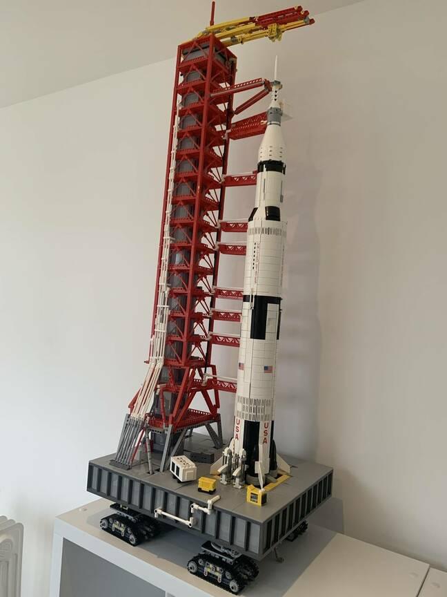 Saturn V and transporter lego