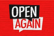 Open again sign