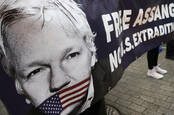 julian assange protesters