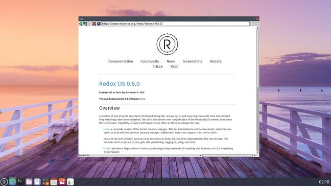 Redox OS is another prominent Rust-based OS but with a more familiar, Unix-like design.