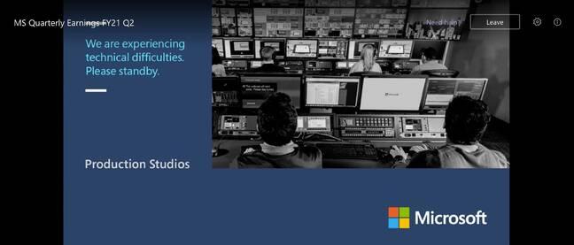 Microsoft FY2021 Q2 Teams call