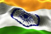 India flag with a digital look