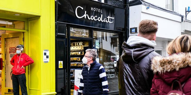 hotel chocolat store front, kingston on thames